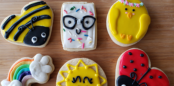 Cheerful sugar cookies form best regards