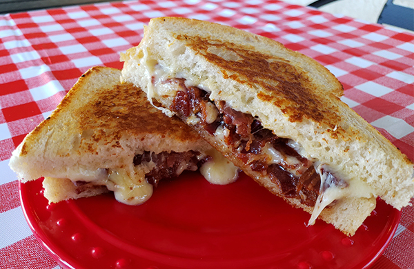 paradise bacon grilled cheese