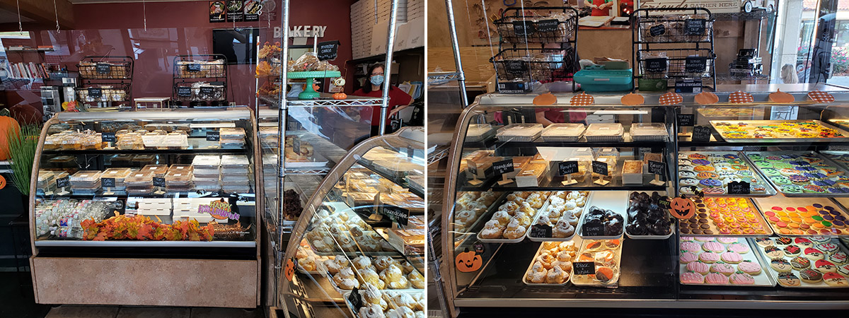 new retail bakery counter is open
