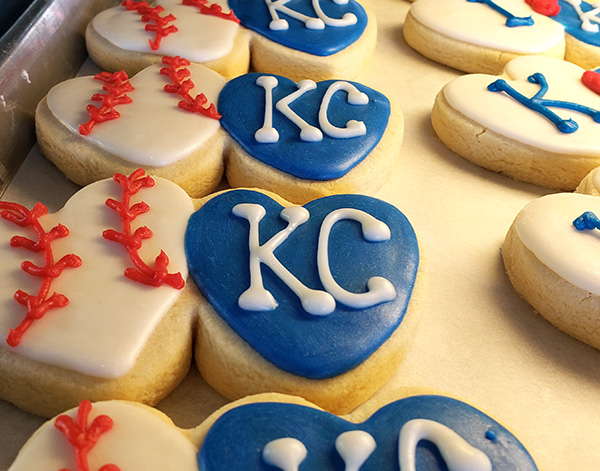 Royals sugar cookies