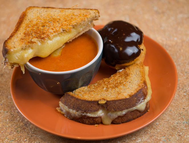 Big Meal Deal, Best Regards Signature Grilled cheese with tomato soup