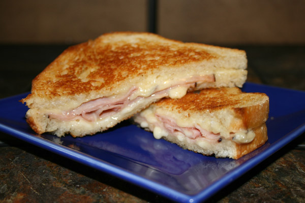 kramers ham and cheese grilled cheese