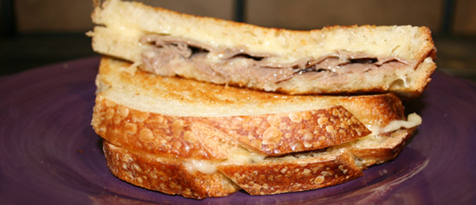 Roberts roast beef grilled cheese