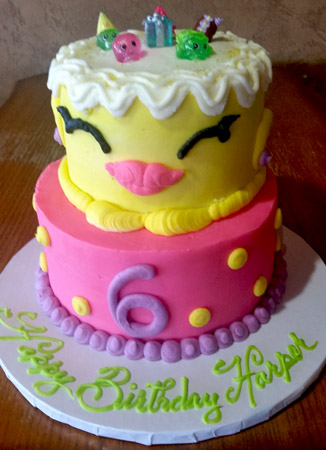 2 Tier Shopkins Cake